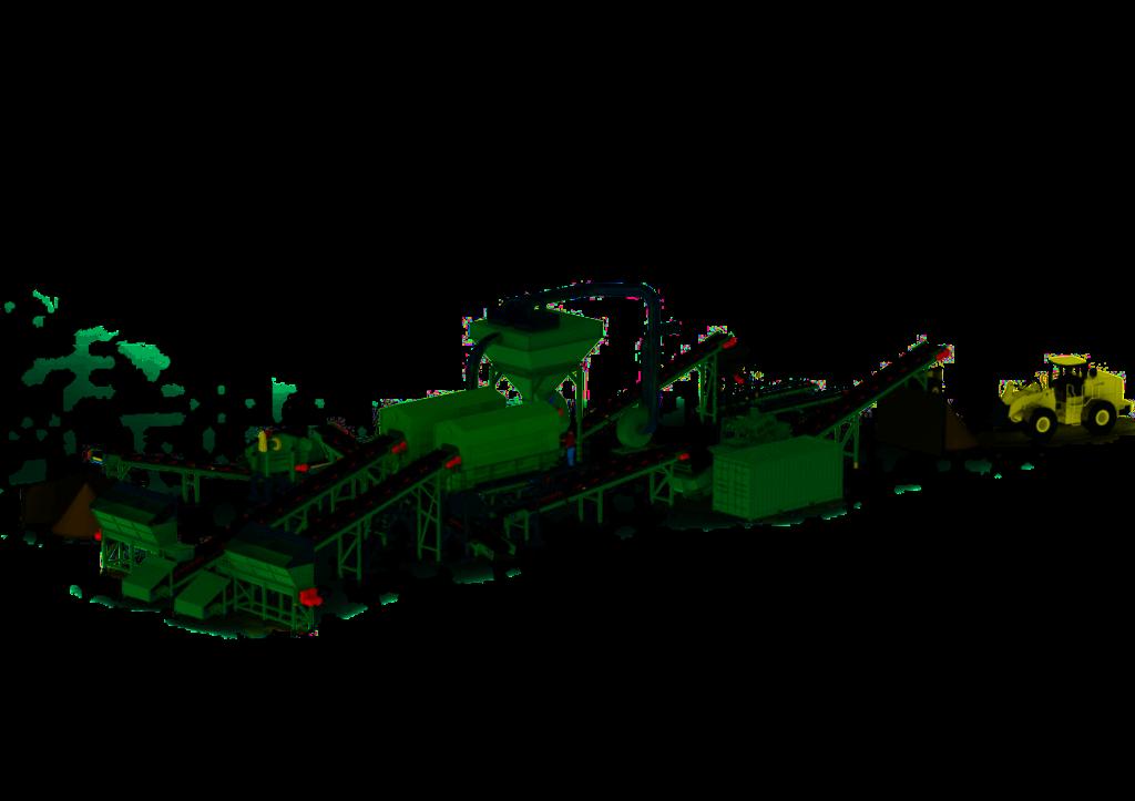 Mallinnus Ferroplan Oy:n jätteenkäsittelylaitoksen suunnitteluprojektista